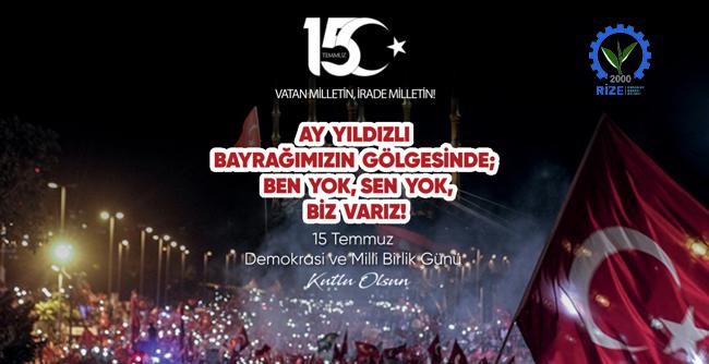 15 Temmuz Demokrasi ve Milli Birlik Günümüz Kutlu Olsun